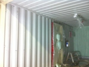 April 3 2013 Spray Foam Insulation Of Shipping Container